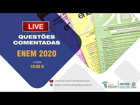 Pré Enem Seduc-PI Comentário 1º dia de  Prova  ENEM 2020 | 18/01/2021