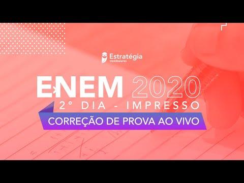 Gabarito ENEM 2020 2° DIA - Impresso: Correção de Prova ao Vivo.